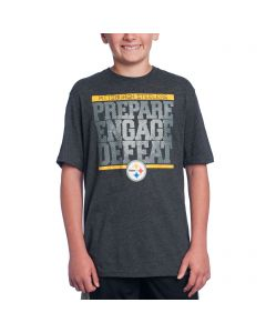 Pittsburgh Steelers Boys Grey Preparation T-Shirt