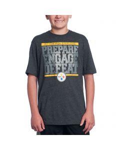 Pittsburgh Steelers Boys Grey Preparation T-Shirt