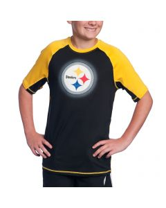 Pittsburgh Steelers Boy's Colorblock Rash Guard