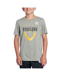 Pittsburgh Steelers Boys Icon Grey T-Shirt