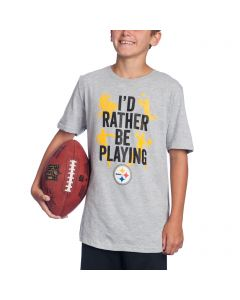 Pittsburgh Steelers Boys I'd Rather Play Short Sleeve T-Shirt