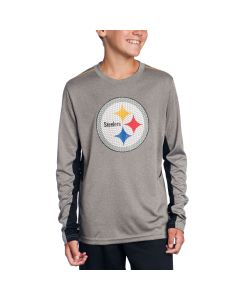 Pittsburgh Steelers Boys Mainframe Performance Long Sleeve Top