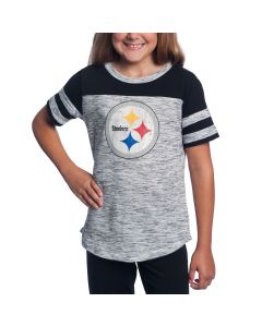 Pittsburgh Steelers Girl's New Era Space Dye Short Sleeve T-Shirt