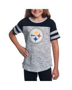 Pittsburgh Steelers Girl's New Era Space Dye Short Sleeve T-Shirt