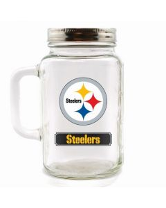 Pittsburgh Steelers 30oz. Mason Jar With Lid
