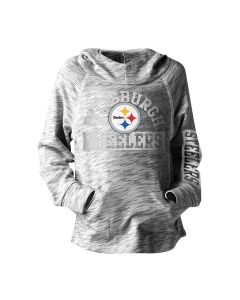 Pittsburgh Steelers Girl's New Era Space Dye Hoodie