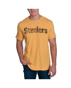 Pittsburgh Steelers '47 Wordmark SCRUM Short Sleeve T-Shirt