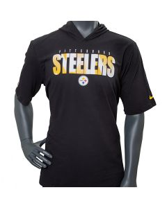 Pittsburgh Steelers Men's Nike Short Sleeve Playbook Sideline Hoodie T-Shirt