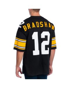 Terry Bradshaw #12 Men's Mitchell & Ness Authentic Home Jersey