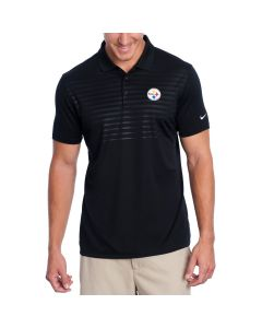 Pittsburgh Steelers Nike Golf Victory Emboss 2.0 Black Polo