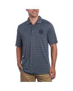 Pittsburgh Steelers Cutter & Buck Interbay Melange Stripe Polo
