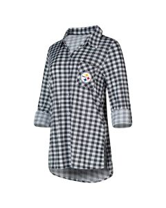 Pittsburgh Steelers Women's Wanderer Check Roll-Tab Tunic