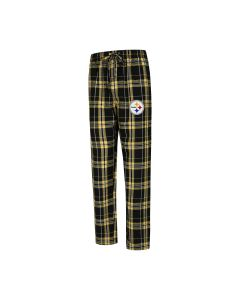 Pittsburgh Steelers Men's Hillstone Flannel Black Sleep Pant