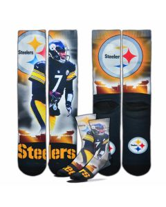 Pittsburgh Steelers #7 Ben Roethlisberger City Star Socks