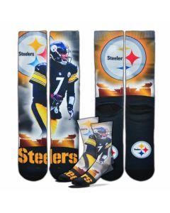 Pittsburgh Steelers #7 Ben Roethlisberger City Star Socks