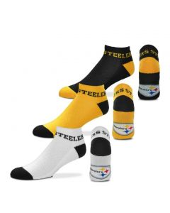 Pittsburgh Steelers Men's Money No Show 3PK Socks