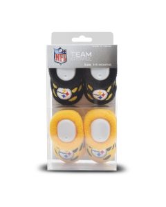 Pittsburgh Steelers Polka Dot 2PK Booties