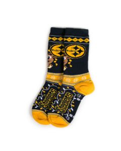 Pittsburgh Steelers Reindeer Lights Socks