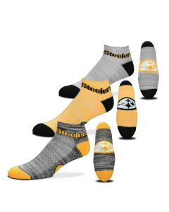 Pittsburgh Steelers Space Dye Socks - 3 pack