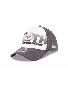 Pittsburgh Steelers 2017 AFC North Champion Locker Room 9FORTY Grey Cap