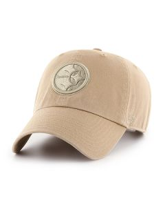 Pittsburgh Steelers '47 CLEAN UP Tonal Raised Logo Khaki Cap