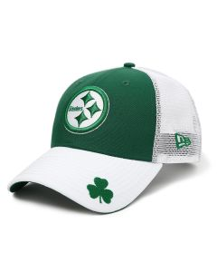 Pittsburgh Steelers New Era 9FORTY St. Patrick's Day Mesh Trucker Cap