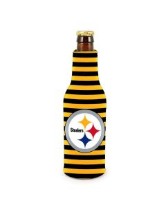 Pittsburgh Steelers Striped Bottle Coolie with Logo