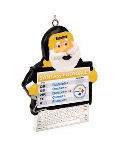 Pittsburgh Steelers Santasy Ornament