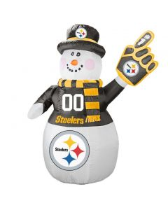 Pittsburgh Steelers Inflatable Snowman