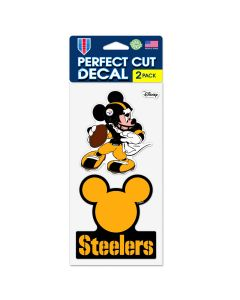 Pittsburgh Steelers Steel City Mickey 2 PK Decal