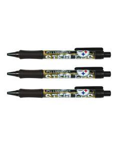 Pittsburgh Steelers 3 Pc. Grip Pens