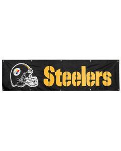 Pittsburgh Steelers 8ft Helmet & Wordmark Banner