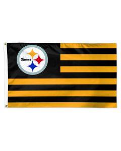 Pittsburgh Steelers 3x5 Americana Stripe Flag