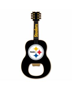 Pittsburgh Steelers Guitar Shaped Bottle Opener/Magnet
