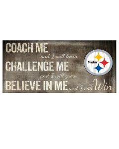 "Pittsburgh Steelers ""Coach Me"" Wood Sign"
