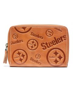 Pittsburgh Steelers Ladies Leather Wristlet