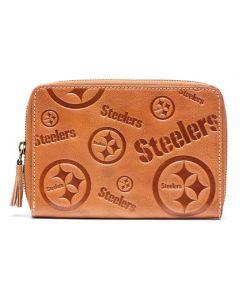 Pittsburgh Steelers Ladies Leather Wristlet
