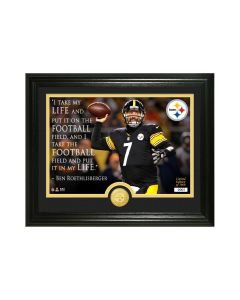 Pittsburgh Steelers Framed 13x16 Quote By Ben Roethlisberger