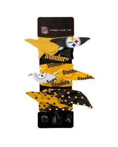 Pittsburgh Steelers Wire Hair Ties - 3pk.