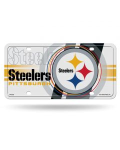 Pittsburgh Steelers White Circle Logo Design License Plate