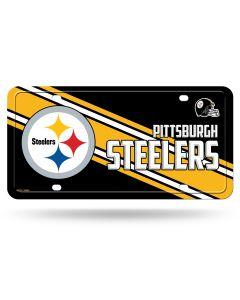 Pittsburgh Steelers Diagonal Stripe License Plate