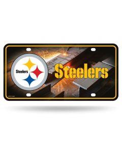 Pittsburgh Steelers Steel Beams License Plate