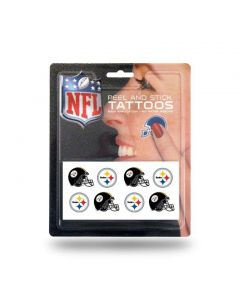 Pittsburgh Steelers Peel And Stick Tattoos - 8 pack
