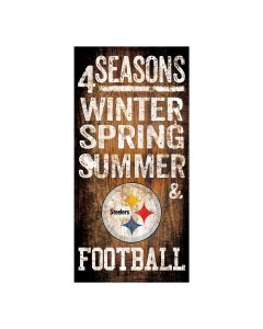 Pittsburgh Steelers Seasons Wood Sign
