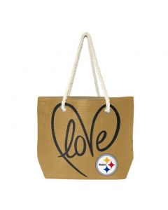 Pittsburgh Steelers Natural Rope Tote