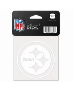 Pittsburgh Steelers 4 x 4 White Logo Decal