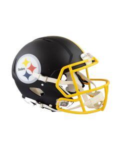 Pittsburgh Steelers Matte Black Authentic Speed Helmet