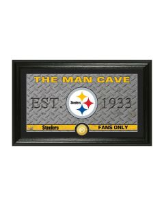 Pittsburgh Steelers 12x20 Framed Man Cave with Bronze Coin