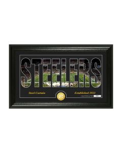 Pittsburgh Steelers Panoramic Photomint Word Art