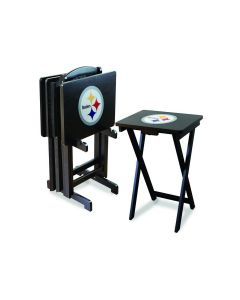 Pittsburgh Steelers TV Tray Set (set of 4 with rack)